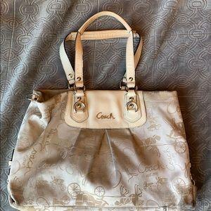 Coach rare horse & carriage print Ashley bag purse